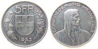 5 Franken 1925 Schweiz Ag HMZ 1199 vz  168,00 EUR  zzgl. 6,00 EUR Versand