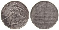 Kalendermedaille Medaille Bronze versilbert Luna, v. Hofmann, ca. 40 MM
