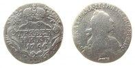 1 Grivennik 1766 Rußland Ag Katharina II, St.Petersburg, gereinigt, zap... 56,50 EUR  zzgl. 6,00 EUR Versand