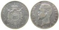 5 Francs 1855 Frankreich Ag Napoleon III,  tête nue, A (Paris), kleine ... 72,50 EUR  zzgl. 6,00 EUR Versand