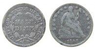 1/2 Dime 1858 USA Ag Seated Liberty fast ss  33,50 EUR  zzgl. 3,95 EUR Versand