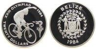 20 Dollar 1984 Belize Ag Olympiade Radfahren pp  56,50 EUR  zzgl. 6,00 EUR Versand