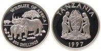 200 Shilingi 1997 Tansania Ag Spitzmaulnashorn pp  33,50 EUR  zzgl. 3,95 EUR Versand