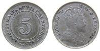 5 Cents 1902 Straits Settlements Ag Edward VII ss  33,50 EUR  zzgl. 3,95 EUR Versand