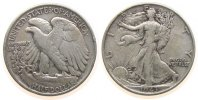 USA 1/2 Dollar 1943 fast ss Ag Walking Liberty, Randfehler 12,50 EUR