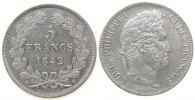 5 Francs 1842 Frankreich Ag Louis Philippe I, BB (Strasbourg), gereinig... 220,00 EUR  zzgl. 6,00 EUR Versand
