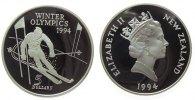 5 Dollar 1994 Neuseeland Ag Olympiade Abfahrtslauf pp  35,00 EUR  zzgl. 3,95 EUR Versand
