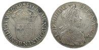 1 Ecu a la meche longue 1649 Frankreich Ag Louis XIV, N (Montpellier), ... 275,00 EUR kostenloser Versand