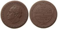 Goethe Medaille Böttger Steinzeug Goethe (1749-1832), Goethe-Gedenkfeier, Pössneck, ca. 50 MM, b
