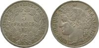 5 Francs 1870 Frankreich Ag Ceres, Dritte Republik, A (Paris), Randstoß... 60,00 EUR  zzgl. 6,00 EUR Versand