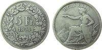 5 Franken 1874 Schweiz Ag Helvetia, Brüssel, B., kleine Randkerbe, klei... 160,00 EUR  zzgl. 6,00 EUR Versand