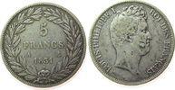 5 Francs 1831 Frankreich Ag Louis Philippe I, A (Paris) fast ss  52,50 EUR  zzgl. 6,00 EUR Versand