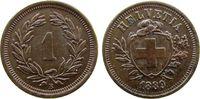1 Rappen 1889 Schweiz Br HMZ 1215, selten,...