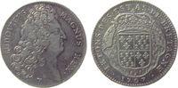 Frankreich Jeton Silber Louis XIV. (1643-1715) - Bretagne, Büste nach rechts / Wappenschild - Ums
