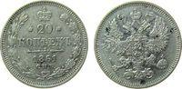 20 Kopeken 1861 Rußland Ag Alexander II, ohne Münzmeisterzeichen ss+  35,00 EUR  zzgl. 3,95 EUR Versand