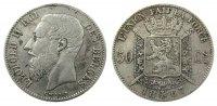 50 Centimes 1867 Belgien Ag Leopold II, des Belges ss-  45,00 EUR  zzgl. 3,95 EUR Versand