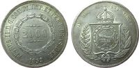 2000 Reis 1853 Brasilien Ag Pedro II, feine Kratzer (Datum) ss-vz  70,00 EUR  zzgl. 6,00 EUR Versand