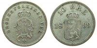 10 Öre 1899 Norwegen Ag Oscar II, Siegs 25 ss-vz  33,50 EUR  zzgl. 3,95 EUR Versand