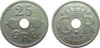 25 Öre 1929 Dänemark KN Christian X ss  5,00 EUR