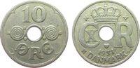 10 Öre 1931 Dänemark KN Christian X ss  2,50 EUR