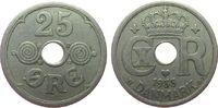 25 Öre 1933 Dänemark KN Christian X, seltener ss  45,00 EUR