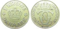 1 Krone 1934 Dänemark AlBr Christian X ss  10,00 EUR