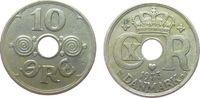 10 Öre 1935 Dänemark KN Christian X ss  3,00 EUR