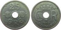 25 Öre 1936 Dänemark KN Christian X ss  3,50 EUR