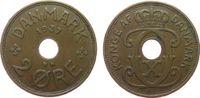 2 Öre 1937 Dänemark Br Christian X ss  1,00 EUR