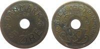 5 Öre 1937 Dänemark Br Christian X ss  1,00 EUR