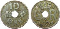 10 Öre 1939 Dänemark KN Christian X ss  2,00 EUR