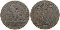 5 Centimes 1857 Belgien Ku Leopold I fast ss  7,50 EUR