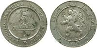 5 Centimes 1861 Belgien KN Leopold I ss  5,50 EUR