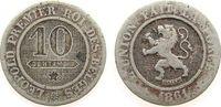 10 Centimes 1861 Belgien KN Leopold I schön  2,00 EUR