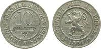 10 Centimes 1861 Belgien KN Leopold I ss  6,75 EUR