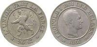 20 Centimes 1861 Belgien KN Leopold I, Des Belges ss  9,50 EUR