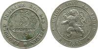 5 Centimes 1863 Belgien KN Leopold I, kleine Randfehler vz  17,00 EUR
