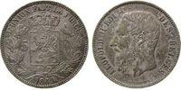 5 Francs 1869 Belgien Ag Leopold II (1865-1909), Patina ss+  33,50 EUR