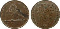 2 Centimes 1875 Belgien Ku Leopold II, Fleck vz-unc  13,50 EUR