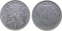 1 Franc 1880 Belgien Ag Leopold II, 50 Jahre Staatsgründung ss  28,00 EUR