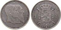 1 Franc 1880 Belgien Ag Leopold II, 50 Jahre Staatsgründung fast vz  56,50 EUR