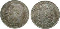50 Centimes 1886 Belgien Ag Leopold II, Der Belgen, Patina vz+  95,00 EUR
