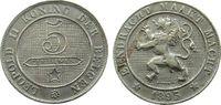 5 Centimes 1895 Belgien KN Leopold II, Der Belgen, kleine Randstöße, Do... 28,00 EUR