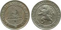5 Centimes 1895 Belgien KN Leopold II, des Belges vz  39,50 EUR