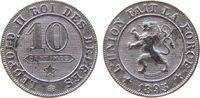 10 Centimes 1895 Belgien KN Leopold II, des Belges ss  67,50 EUR