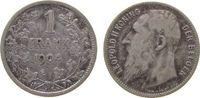 1 Franc 1904 Belgien Ag Leopold II, Der Belgen ss-  17,00 EUR