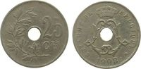 25 Centimes 1908 Belgien KN Leopold II, Belgique ss  3,25 EUR