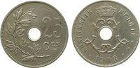 25 Centimes 1908 Belgien KN Leopold II, Belgie ss  4,50 EUR