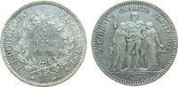 5 Francs 1873 Frankreich Ag Herkulesgruppe, A (Paris) vz+  45,00 EUR