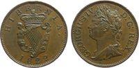 1/2 Penny 1822 Irland Ku Georg IV, kleiner Randstoß vz  75,00 EUR